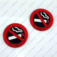 Wholesale 2 No Smoking Sign D Plastic Rubber Self Adhesive Office Car Taxi Window Home