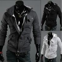 cardigan hooded - 2014 HOT New coats men outwear Mens Special Hoodie Jacket Coat men clothes cardigan style jacket