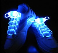 Wholesale 2016 pairs LED Flashing shoe laces Fiber Optic Shoelace Luminous Shoe Laces Light Up Shoes lace