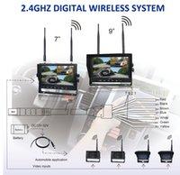Wholesale Wireless Car Rear View System Wireless Monitor quot G Digital Wireless Quad view Monitor Backup Camera Wireless Backup Wireless Surveillance