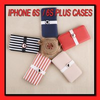 apple chromatic - For iphone Case s Chromatic stripe rivet clasp cases PU PC Phone Case Phone cases for iphone s plus s cases