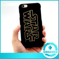 Wholesale For iPhone6s plus iPhone s Darth Vader R2D2 C3P0 Star Wars Phone Case Gold Character Frosting PC Hard Back Cases Cover