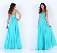 apple manufactures - China Manufacture Top Turkish Evening Dresses Sweetheart Neckline Blue Empire Floor Length Chiffon Cheap Beautiful Evening Gowns