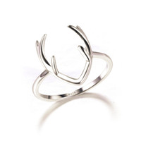 Wedding Rings american fashion store - Fashion Women Ring Solid Sterling Silver Deer Bijoux Silver Antler Ring In Lucky Sonny Store