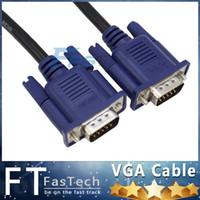 al por mayor 24 vga-1.5M 5FT DVI 24 + 5 al adaptador del convertidor del VGA Varón del varón del VGA al adaptador masculino del cable de DVI VGA del SVGA Monitor M / M Varón al cable de extensión masculino
