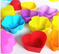 pies - Export DIY cm Silicone Cake pie pudding chocolate Mold Cupcake Mold Baking Mould Bakeware Colors S57694
