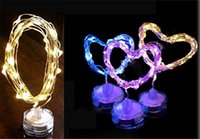 copper coins - Coin battery powered M leds many colors submersible led copper wire string lights for wedding event party decoration