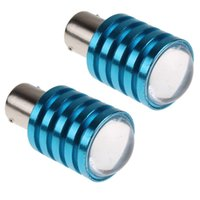 Wholesale 2Pcs Cree Q5 W LED Car Light Bulbs Pure White Auto Reversing Backup Light Lamp BA15S