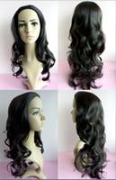 half full - Womens Girls T33 New Fashion Romantic Full Hair Long Wavy Curly Half Wig Drop Shipping