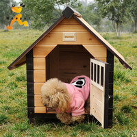 outdoor dog kennels - Chinese Yuan Teddy kennel outdoor dog house wood huts wooden dog house pet house pet nest kennel