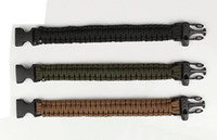 paracord bracelets - 1000PCS LJJH568 Outdoor Camping Hiking Survival Bracelet Kits Paracord Wristbands Emergency Rope Gear Whistle Flint Fire Starter Scraper