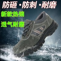 steel toe cap - steel toe cap work amp safety men shoes leather breathable female summer boots men brands shoes woman