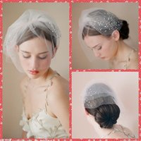 beauty veil - Best Selling Wedding Head Pieces Comb Cheap Beauty Pearl Hair Veil For Bride Wedding Veils Party hair accessory Bridal Accessory