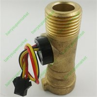 Wholesale G1 Electronic Flow Meter Electronic Flow Sensor L M for solar water heater water flow meter