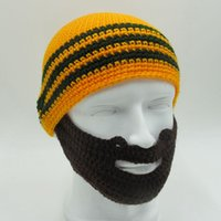 bicycle beard - Handmade Knitted Crochet Mustache Hat Full Beard Beanies Face Warmer Bicycle Mask Ski Winter Cap Cool Funny Hat Unisex Warm Gift
