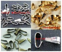 Wholesale OMH OFF50 free ship mm mixed Silver Gold Bronze Tone Copper Necklace Bail Connectors Clasps Hooks