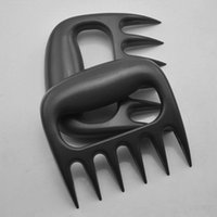 Cheap Wholesale-Hot Useful Polar Bear Paws Carve Claws Meat Handle Fork Tongs Lift Shred Lift BBQ Grill Pork Randomly