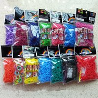 Cheap New Metallic Loom Bands Rainbow Rubber Bands Looms 500 package (six hundred per pack Send 24 C or S-shaped buckle + crochet) for DHL