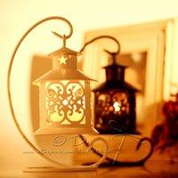 Wholesale Free Shippig Retro Hanging Ironwork Candle Holders Lantern Wedding Home Decoration