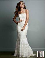 beaded godet dress - Custom Made New Petite Beaded Lace Sheath with Godet Inserts Style VW9340 Sleeveless Wedding Dresses Bride Clothing