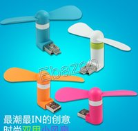 Wholesale Portable Micro USB Mini Fan Outdoor Fan For iPhone Samsung Xiaomi Smart Phone Micro USB Devices Support Power Bank Laptop Multi Colors