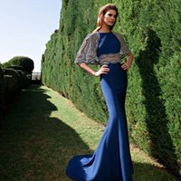 attractive prom dress - Attractive Tarik Ediz Hollow Sheath Evening Dresses Jewel Neckline Mermaid Prom Gowns Floor Length Custom Made Formal Party Dress