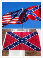 Wholesale Hot Selling Confederate Battle Flags Two Sides Printed Consfederate Flag Confederate Rebel Civil War Flag National Polyester Flags X FT