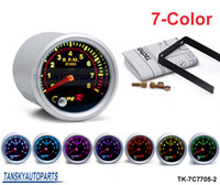 Wholesale 2 quot mm COLOR TACHOMETER GAUGE LED Car Tachometer Meter Universal Smoke Face TK C7705 Have in stock