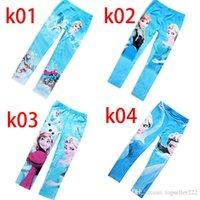 Wholesale 2014 Frozen Elsa Anna Girls Children Leggings Long Pants Trousers Designs Warmer Childrens Leggings And Tights Hot Sale