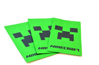 Wholesale Retail Cinema Candy Cookie Container Party bags minecraft creeper bag Minecraft paper bags JJ Creepers Popcorn Paper Pack Bags
