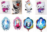 Wholesale Cartoon Frozen Anna Elsa Sets bubble hydrogen balloon Frozen Olaf Hello Kitty Ballon Party decoration foil balloons