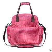 backpacks sleeping bags - 100pcs LJJC3188 High Quality Dots Printed Waterproof Diaper Bag Mummy Bags Baby Nappy Bag Travel Ladies Backpack Durable Nappy Sleeping Bag