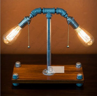 Light bulb table lamp water pipe double 200 for Making a light bulb pipe