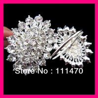 Bamboo crystal napkin ring - flower crystal rhinestone napkin ring for wedding party table rhinestone holder