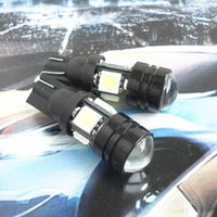 Wholesale car spare parts LED Lamp Bulb T10 high power spot COB with flood SMD crystal blue for W5W W2 X9 d for Marker Width Signal Light