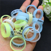 Cheap 50pcs Hot Glow In The Dark Vape Bands Rubber Silicone Ecig Vape Ring Mechanical Mods RDA RBA Mahattan Apollo Subtank atlantis v2