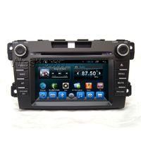 Double voiture din dvd lecteur multimédia de l'écran de navigation tactile avec ajustement de radio mp3 tv bluetooth pour Mazda CX-7