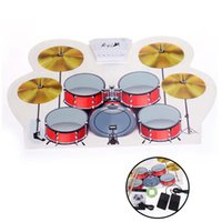 Wholesale Professional Demo Inside USB MIDI Drum Kit PC Desktop Roll up Electronic Drum Pad Portable with Drumsticks order lt no track