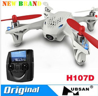 Wholesale H107D Live video drone GHz LCD transmitter Hubsan X4 with HD camera micro FPV quadcopter