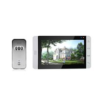 Wholesale hot sale inch color touch button video door phone with rain proof outdoor station