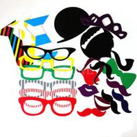 Envío gratis 22PCS de BRICOLAJE Máscaras de Photo Booth Props Bigote En Un Palo de la Boda de la Fiesta de Cumpleaños Nuevo orden$18no pista
