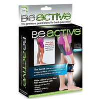 Wholesale EMS Beactive Pressure Point Brace Back Pain Acupressure Sciatic Nerve Be Active Elbow Knee LEG Pads