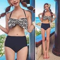 swimwear uk - New Sexy Women Bikini Set Bowknot Push Up Swimwear Lady Swimsuit UK Size