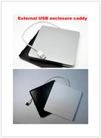 Wholesale Slot in SATA External CD USB DVD RW Drive Enclosure Caddy Case For Apple MacBook