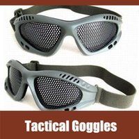 Wholesale Outdoor Cs Impact Resistant Iron Nets Goggles Eye Protection Safety Glasses Green eyewear frame safety glasses