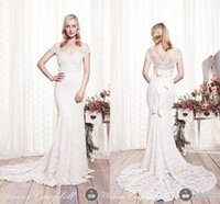 Wholesale Elegant Cheap Formal Vintage New Sexy Bridal Dress Sheer Long Backless Beach With Lace Mermaid Wedding Dresses Ball Gowns Anna Campbell