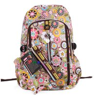 Wholesale Big Discount Spring Print Backpack Women s Casual Shoulder Bags Backpack Student Flowers School Bags