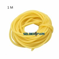bicycle tubing - 1 M Yellow Bicycle Rubber Tube Outdoor Fishing Hunting Racing Survival Natural Latex Tubing Rubber Band for Slingshot Hunting lt order lt no t