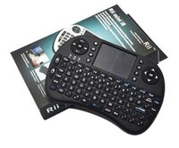 Wholesale 50pcs Rii I8 Fly Air Mouse Mini Wireless Handheld Keyboard GHz Touchpad Remote Control For M8S MXQ MXIII TV BOX Mini PC