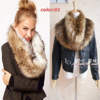 Wholesale new arrive hot selling Women Luxurious fur collar female winter scarves scarf shawl women new brand